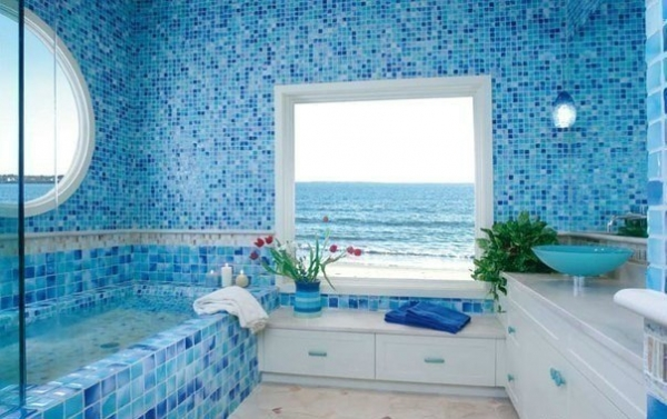 Bathed in Color: When to Use Blue in the Bath